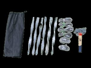 Abspannset 6-Teilig mit Hammer für Faltzelte